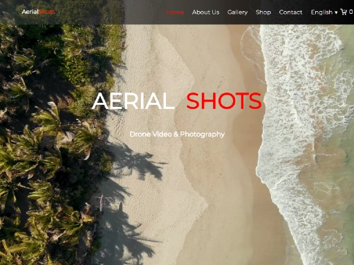 aerialshots - responsive website template built with TOWeb, the responsive website creation software