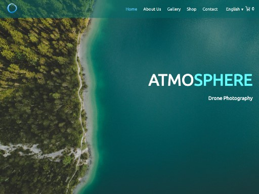 atmosphere - responsive website template built with TOWeb, the responsive website creation software