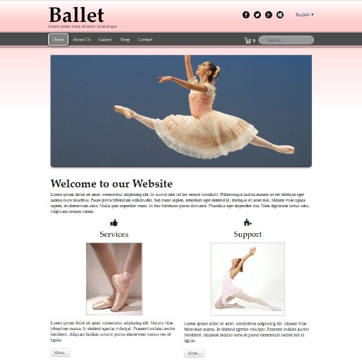 ballet - responsive website template built with TOWeb, the responsive website creation software