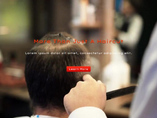 barberz - responsive website template built with TOWeb, the responsive website creation software