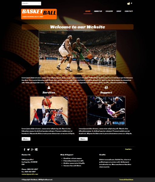 basketball - responsive website template built with TOWeb, the responsive website creation software
