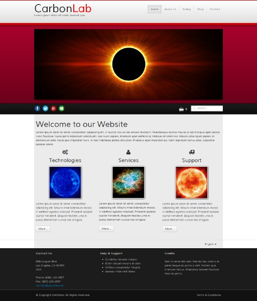 carbonlab - responsive website template built with TOWeb, the responsive website creation software