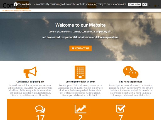 combox - responsive website template built with TOWeb, the responsive website creation software