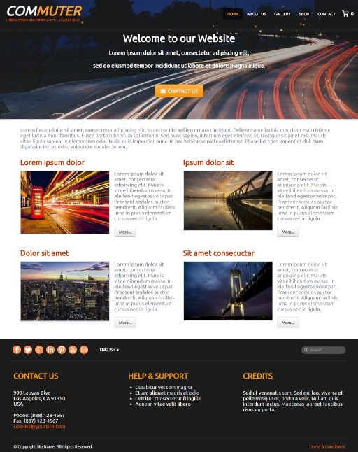 commuter - responsive website template built with TOWeb, the responsive website creation software