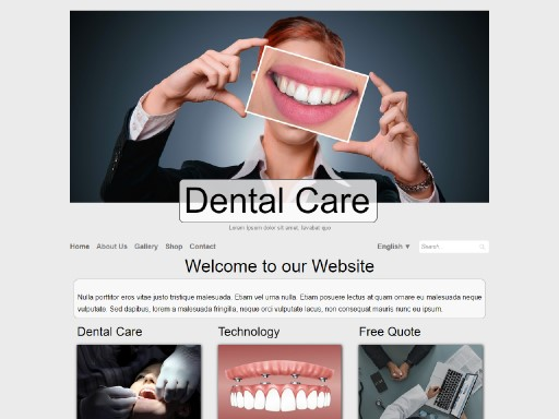 dentalcare - responsive website template built with TOWeb, the responsive website creation software