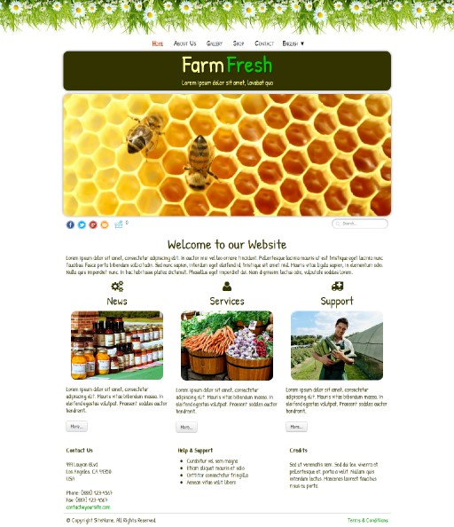 farmfresh - responsive website template built with TOWeb, the responsive website creation software