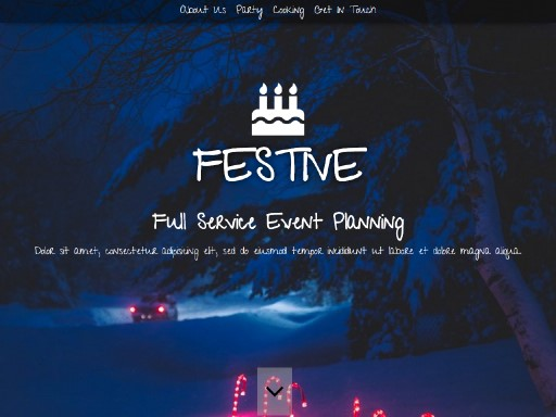 festive - responsive website template built with TOWeb, the responsive website creation software