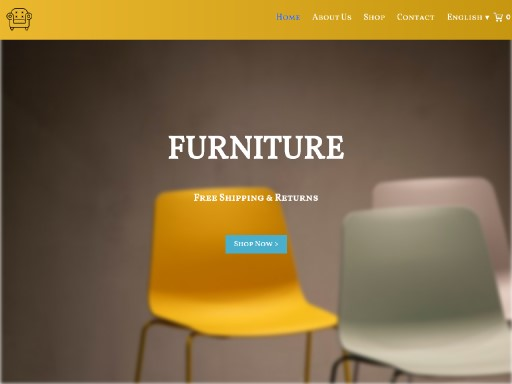 furniturev8 - responsive website template built with TOWeb, the responsive website creation software