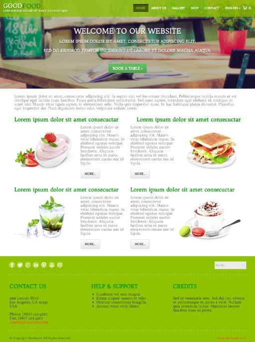 goodfood - responsive website template built with TOWeb, the responsive website creation software