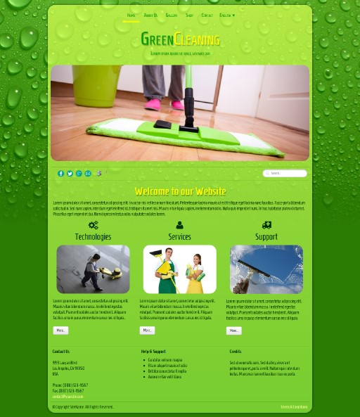 greencleaning - responsive website template built with TOWeb, the responsive website creation software