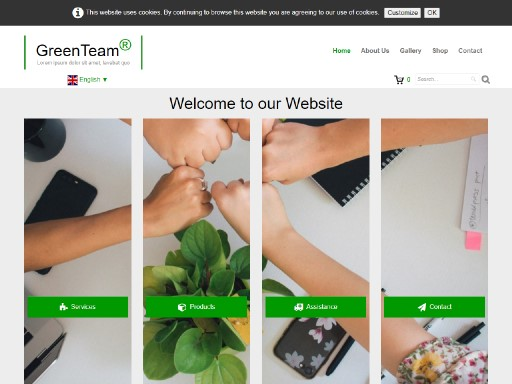 greenteam - responsive website template built with TOWeb, the responsive website creation software