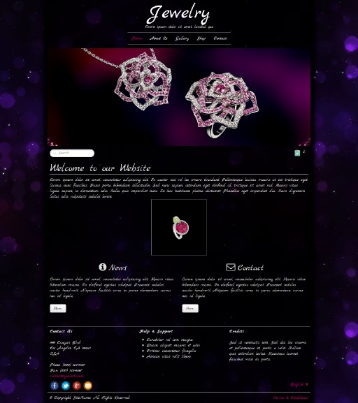 jewelry - responsive website template built with TOWeb, the responsive website creation software