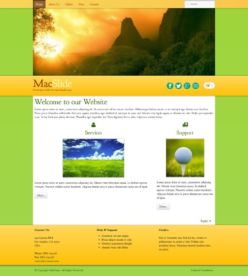 macslide - responsive website template built with TOWeb, the responsive website creation software