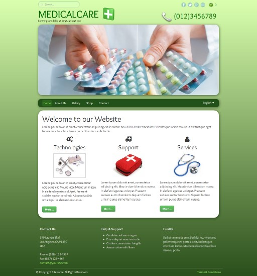 medicalcare - responsive website template built with TOWeb, the responsive website creation software