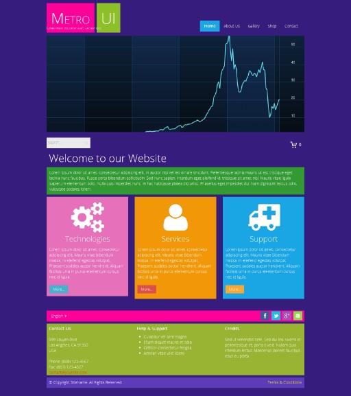 metroui - responsive website template built with TOWeb, the responsive website creation software
