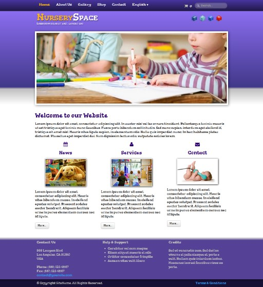 nurseryspace - responsive website template built with TOWeb, the responsive website creation software