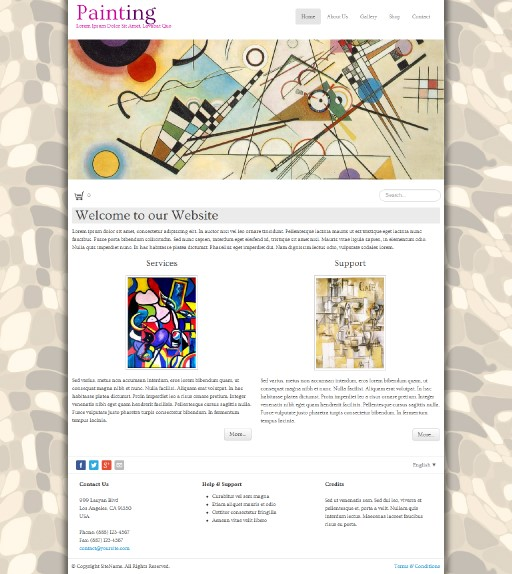 painting - responsive website template built with TOWeb, the responsive website creation software