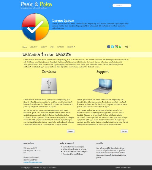 peekpoke - responsive website template built with TOWeb, the responsive website creation software