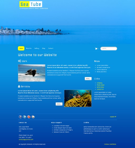 seatube - responsive website template built with TOWeb, the responsive website creation software