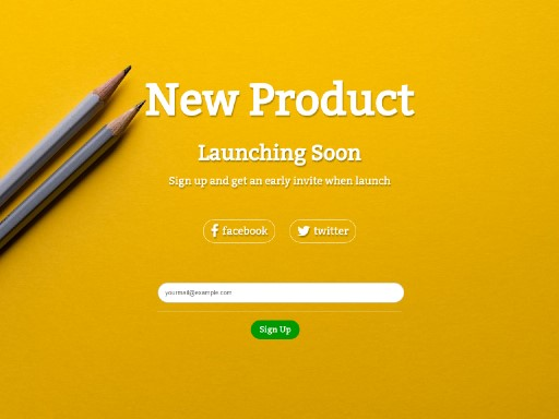 soonlaunch - responsive website template built with TOWeb, the responsive website creation software