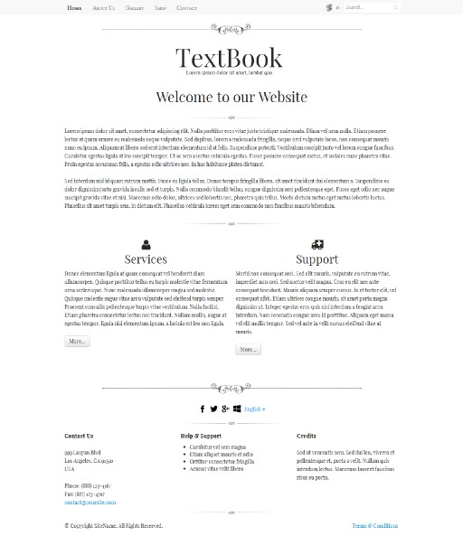 textbook - responsive website template built with TOWeb, the responsive website creation software