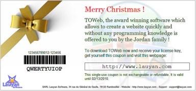 Bestellen Sie die Software TOWeb als Geschenk