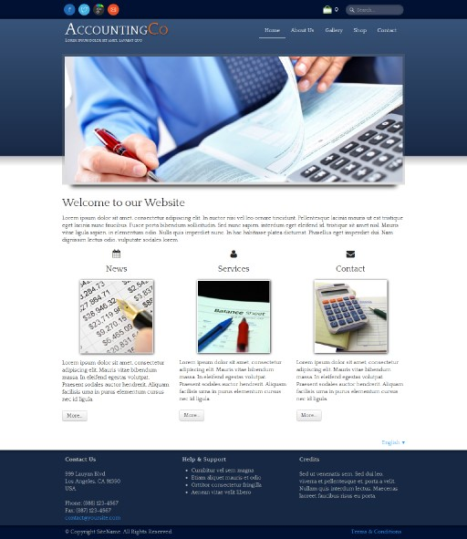 accountingco - responsive website template built with TOWeb, the responsive website creation software