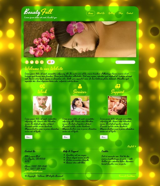 beautyfull - responsive website template built with TOWeb, the responsive website creation software