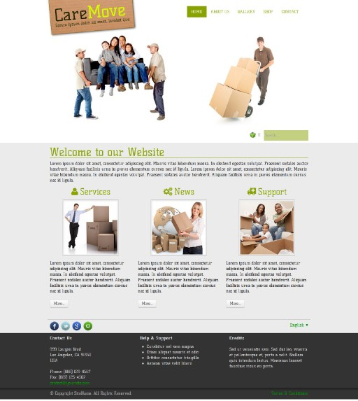 caremove - responsive website template built with TOWeb, the responsive website creation software