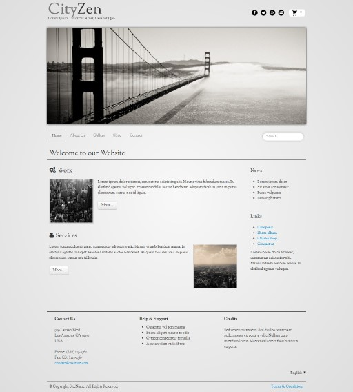 cityzen - responsive website template built with TOWeb, the responsive website creation software