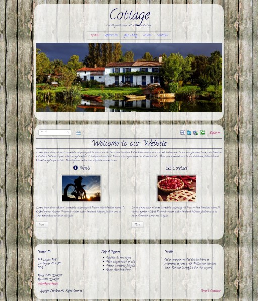 cottage - responsive website template built with TOWeb, the responsive website creation software