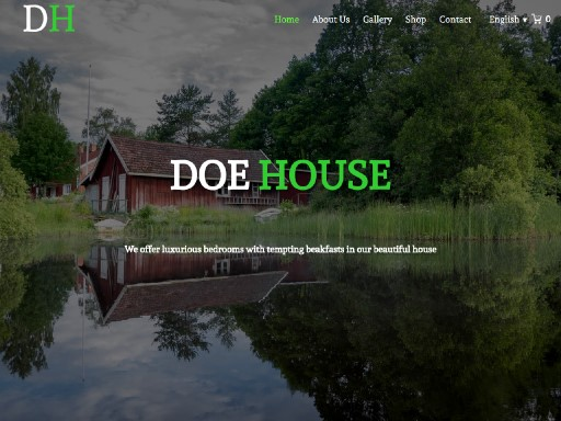 doehouse - responsive website template built with TOWeb, the responsive website creation software