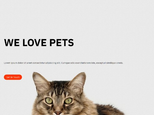 doglife - responsive website template built with TOWeb, the responsive website creation software