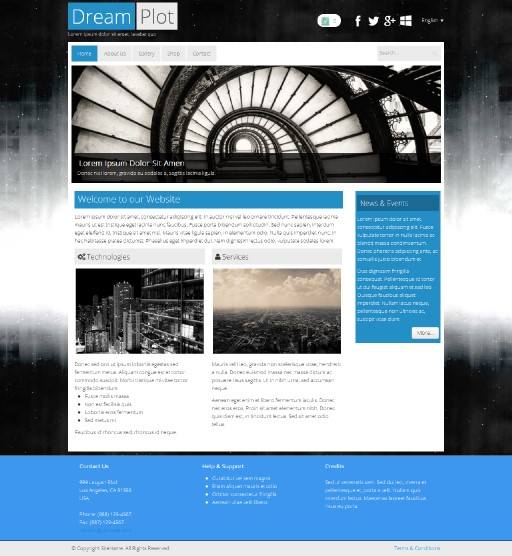 dreamplot - responsive website template built with TOWeb, the responsive website creation software