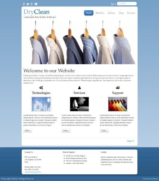 dryclean - responsive website template built with TOWeb, the responsive website creation software