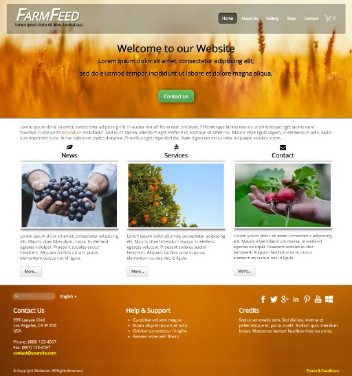 farmfeed - responsive website template built with TOWeb, the responsive website creation software