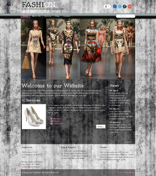 fashion - responsive website template built with TOWeb, the responsive website creation software