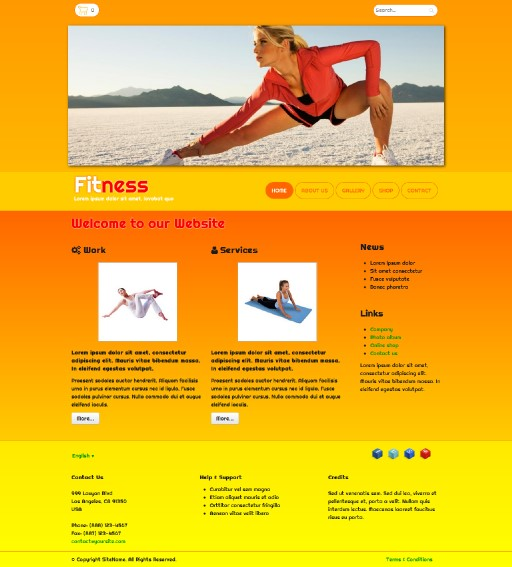 fitness - responsive website template built with TOWeb, the responsive website creation software