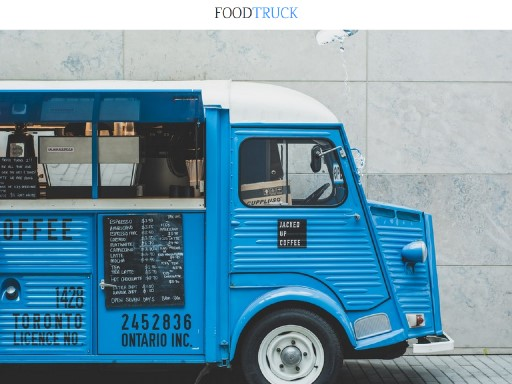 foodtruck - responsive website template built with TOWeb, the responsive website creation software