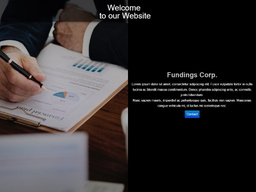 foundings - responsive website template built with TOWeb, the responsive website creation software