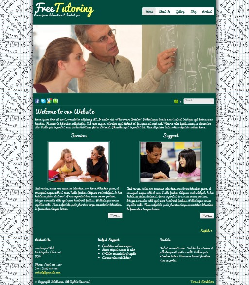 freetutoring - responsive website template built with TOWeb, the responsive website creation software