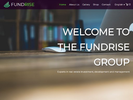 fundrise - responsive website template built with TOWeb, the responsive website creation software