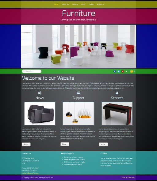 furniture - responsive website template built with TOWeb, the responsive website creation software