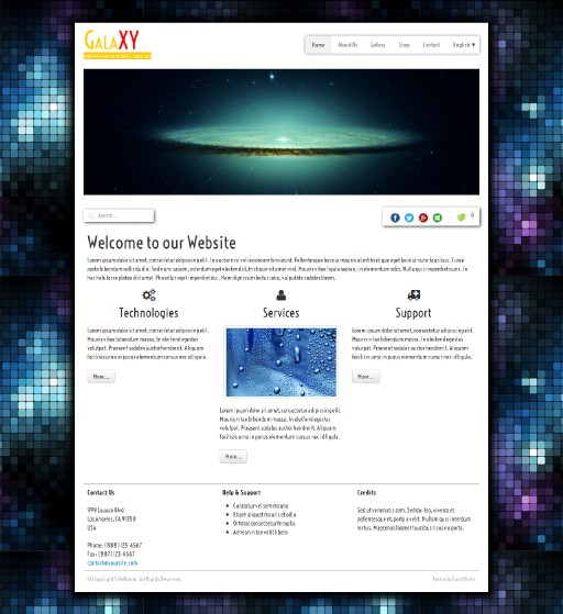 galaxy - responsive website template built with TOWeb, the responsive website creation software