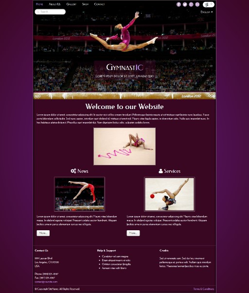gymnastic - responsive website template built with TOWeb, the responsive website creation software