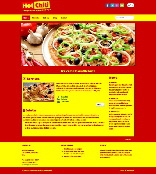hotchili - responsive website template built with TOWeb, the responsive website creation software