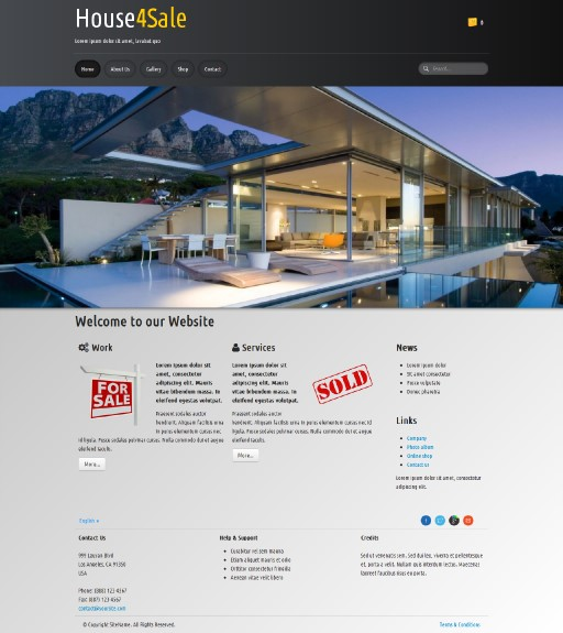 house4sale - responsive website template built with TOWeb, the responsive website creation software