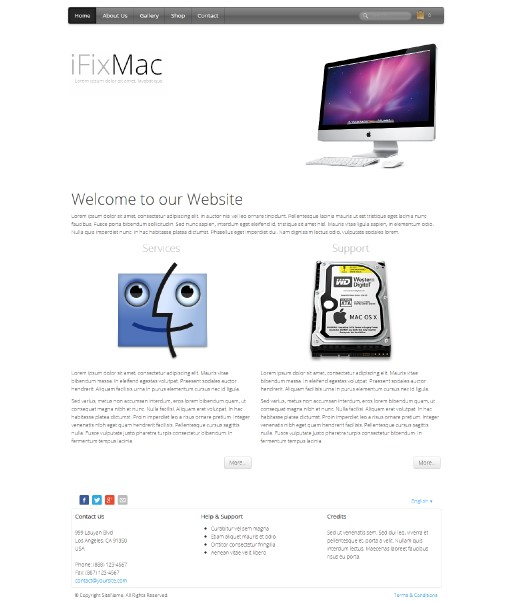 ifixmac - responsive website template built with TOWeb, the responsive website creation software