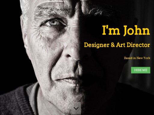 johnresume - responsive website template built with TOWeb, the responsive website creation software
