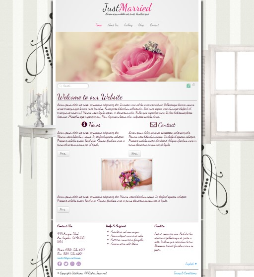justmarried - responsive website template built with TOWeb, the responsive website creation software
